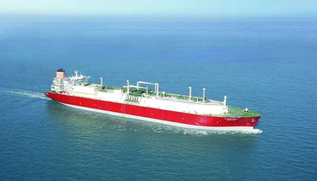 The super-chilled LNG from Qatargas was delivered on board the Q-Flex vessel 'Al Sheehaniya'