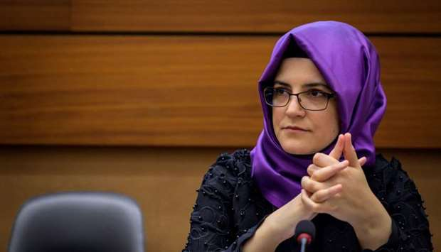 Turkish writer and fiancee of the murdered Saudi journalist Jamal Khashoggi Hatice Cengiz attends a