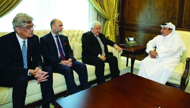 HE the Minister of Transport and Communications Jassim Seif Ahmed al-Sulaiti met with Brazilian Mini