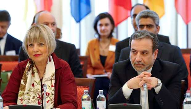Iran's top nuclear negotiator Abbas Araqchi and Secretary General of the European External Action Se