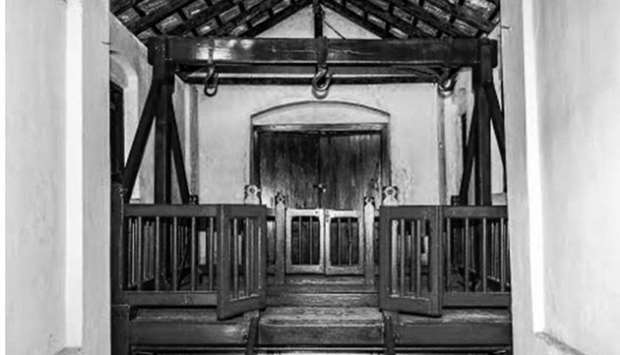 Improved gallows in Bogambara jail in Kandy.