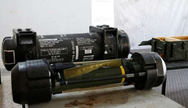 American Javelin anti-tank missiles, which were confiscated from Haftar forces in Gharyan, in Tripol