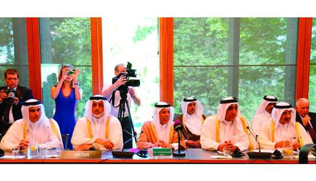 HE the Speaker of the Advisory Council Ahmed bin Abdullah bin Zaid al-Mahmoud at yesterday's meeting