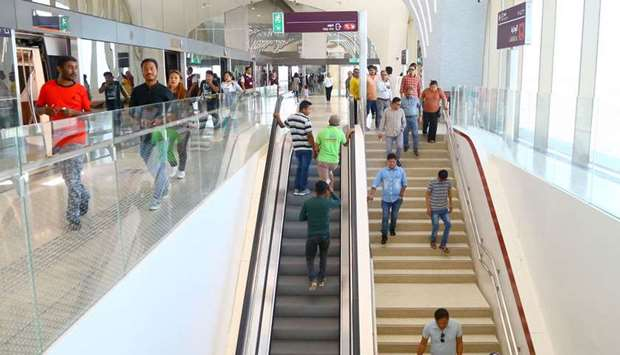 The Doha Metro's Red Line opened almost one year ahead of its scheduled operations. PICTURE: Jayan O