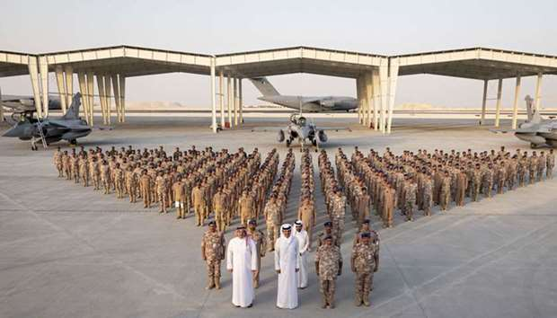Amir attends ceremony to welcome first Rafale squadron