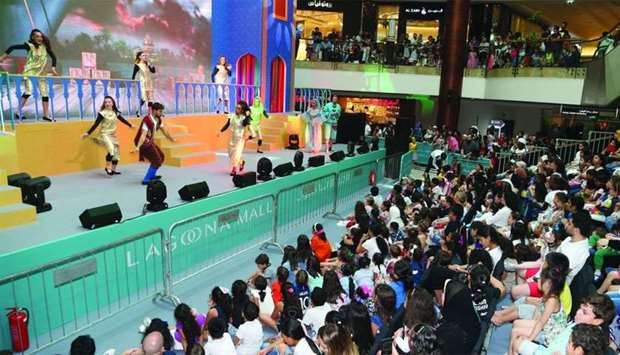 A capacity crowd enjoys the musical Aladdin, performed at Lagoona Mall