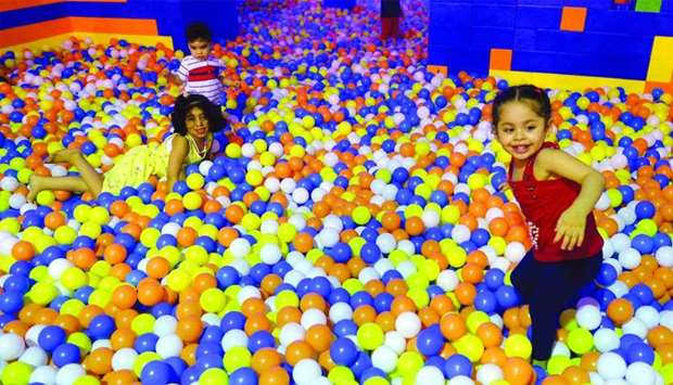 Kids enjoy in the ball pit. PICTURE: Shaji Kayamkulam.