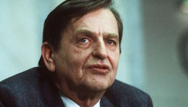 Swedish politican and Prime minister Olof Palme photographed December 12, 1983