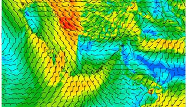 'AlBawarih' windy conditions expected from Saturday until end of next week: Met