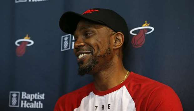 Heat's Udonis Haslem believes 40 not necessarily an end game. (TNS)