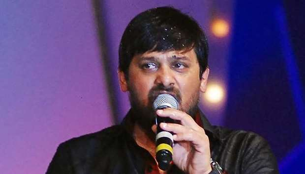 In this picture taken on June 2, 2013 Bollywood Hindi composer Wajid sings during the eighth annual