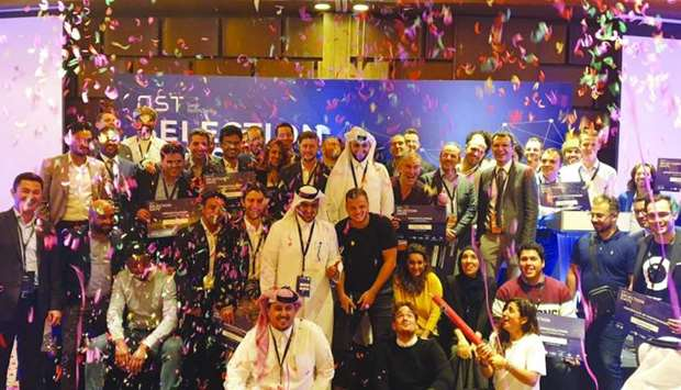 Participants of Qatar SportsTech's 'Selection Day'.