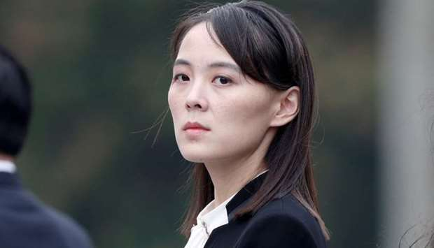 Kim Yo Jong, sister of North Korea's leader Kim Jong Un attends wreath laying ceremony at Ho Chi Min
