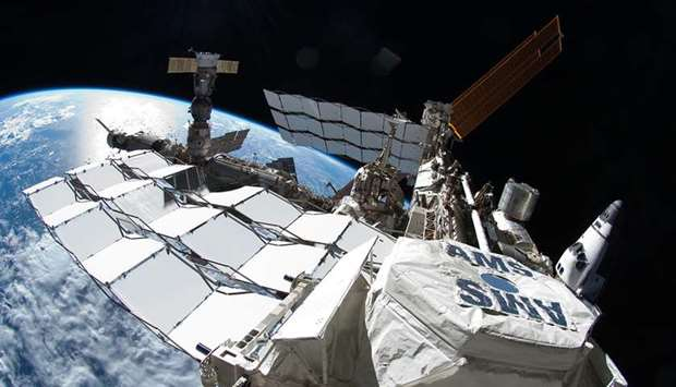 INTERNATIONAL SPACE STATION: Astronaut Ron Garan took this image during the spacewalk conducted on J