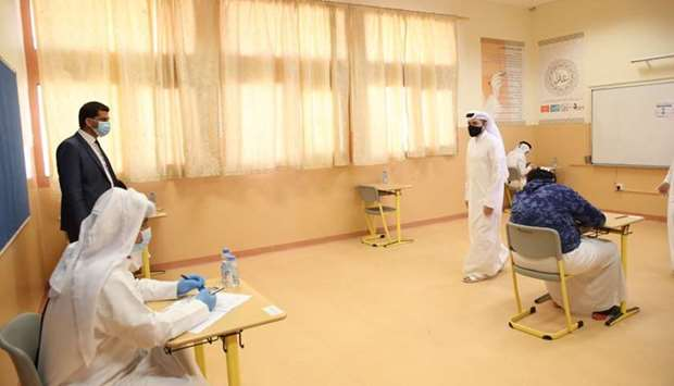 HE the Minister of Education and Higher Education Dr Mohamed bin Abdul Wahed al-Hammadi during his v