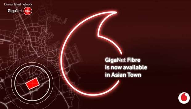 Vodafone connects Asian Town with GigaNet fibre