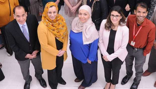 From left to right Dr Ravinder Mamtani Dr Sohaila Cheema, Dr Karima Chaabna Dr Sonia Chaabane Dr Ami