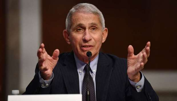 Dr. Anthony Fauci, director of the National Institute for Allergy and Infectious Diseases, testifies
