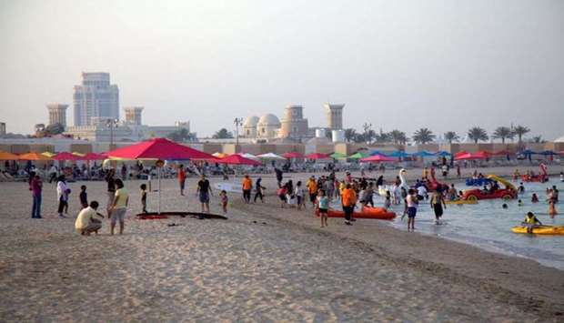 A file photo of one of the beaches at Katara. The beaches will be open daily from 3pm until 10pm.
