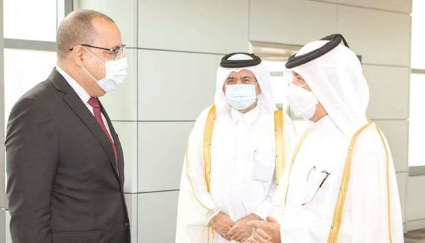 Tunisian Prime Minister and Acting Minister of Interior Hichem Mechichi left Doha on Tuesday after a