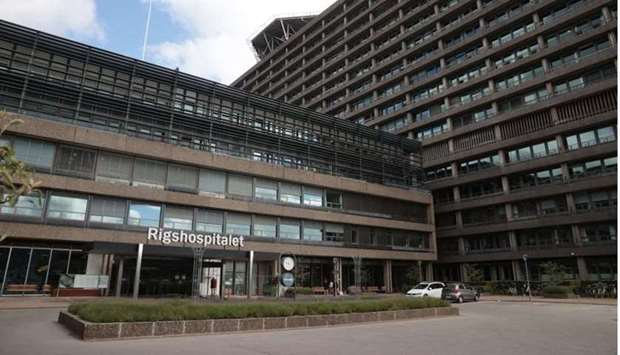 View of the Rigshospitalet hospital, where Denmark midfielder Christian Eriksen is being treated aft