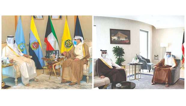 The two meetings reviewed the bilateral relations between the two brotherly countries.