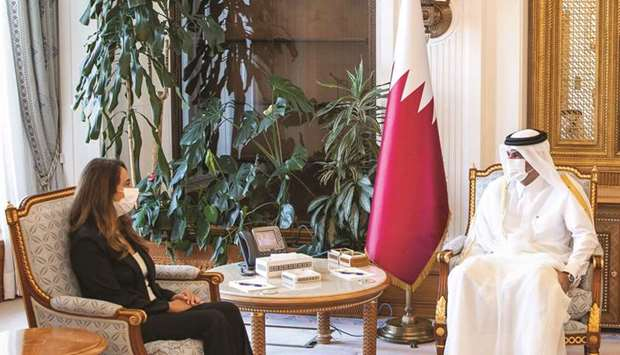 During the meeting, bilateral relations and ways of enhancing them were reviewed, in addition to a n