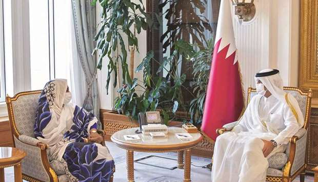 The meeting dealt with reviewing bilateral relations and the means to enhance them, in addition to d