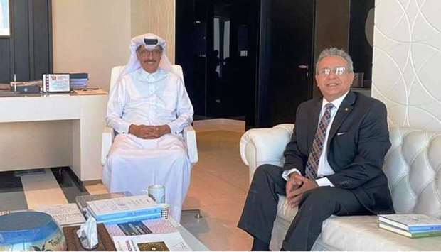 They exchanged ideas and discussed the bilateral relationship between Qatar and Peru as well as the