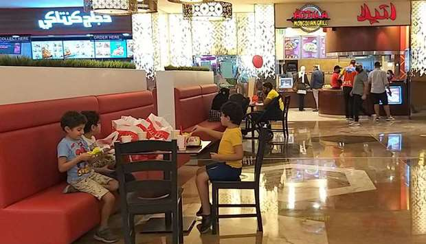 Kids and other visitors in the food court of a mall in Doha on Friday. PICTURE: Shaji Kayamkulam