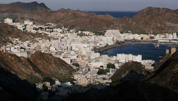 General view of old Muscat., Oman