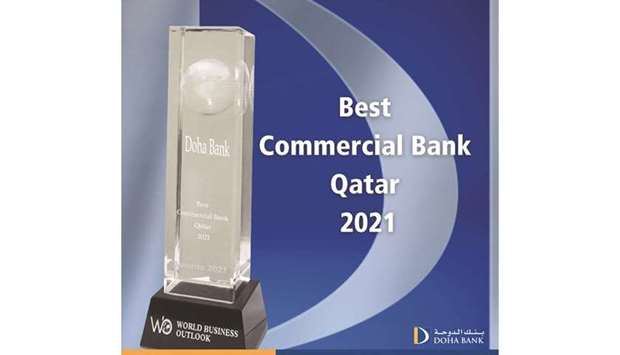 The 'Best Commercial Bank in Qatar 2021' award.