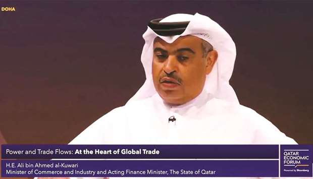 HE the Minister of Commerce and Industry and the Acting Finance Minister, Ali bin Ahmed al-Kuwari sp