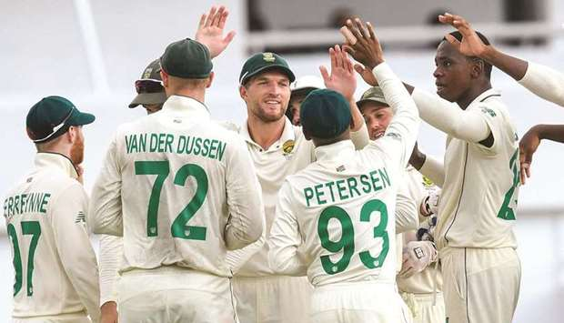 South Africa completed a 2-0 sweep of the Test series on Monday.