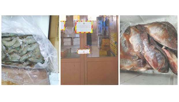 Around 80kgs of unfit fish stocks was destroyed. The process was done under the supervision of veter
