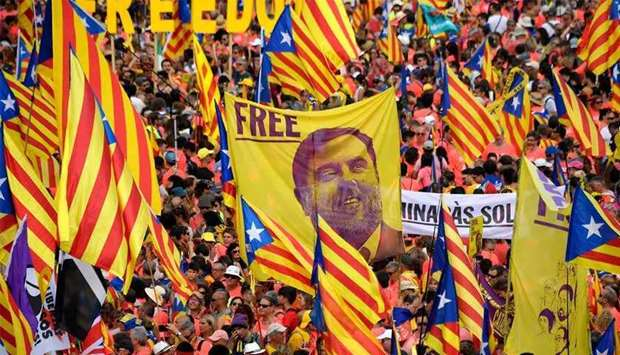 (File photo) The separatists were convicted over a banned referendum in October 2017 that was marred