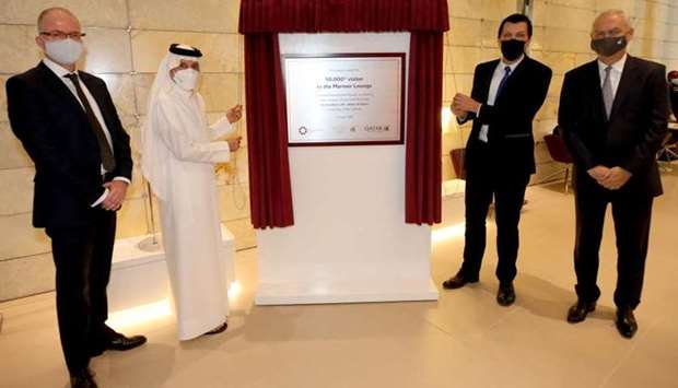 HE Akbar al-Baker and other officials marking the occasion of the Mariner Lounge welcoming its 50,00