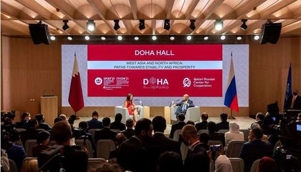 Doha Forum hosts session on West Asia and North Africa at SPIEF