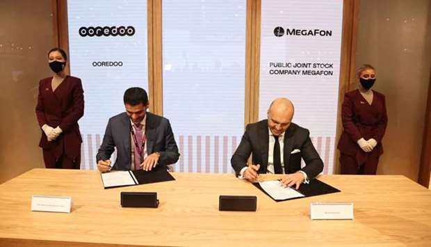 The document was signed by Ooredoo CEO Sheikh Mohamed bin Abdulla al-Thani and MegaFon CEO Gevork Ve