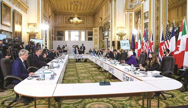 Attendees during the Group of Seven Finance Ministers summit in London. The G7 advanced economies ag