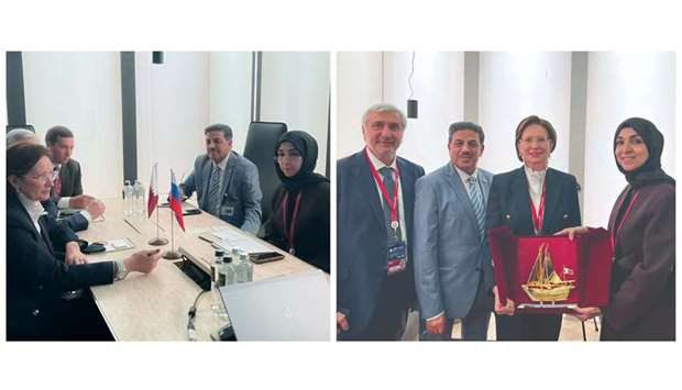 The Qatar Chamber's participation in SPIEF 2021 came in the framework of Qatar's pavilion, which aim