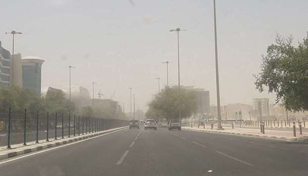 The Qatar Met department said in Wednesday's detailed weather report that strong winds are expected