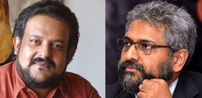 Sharma (left) and Varadarajan: angry
