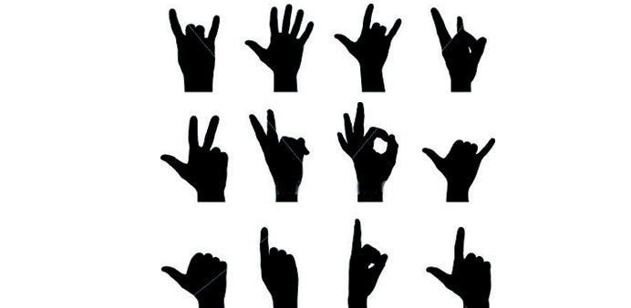 Offensive hand signs that might attract punishment in Qatar.