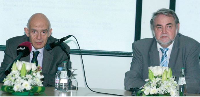 Dr El-Karanshawy (left) with Dr Nienhaus at the event.