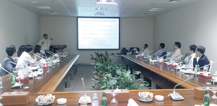 One of the training sessions in progress.