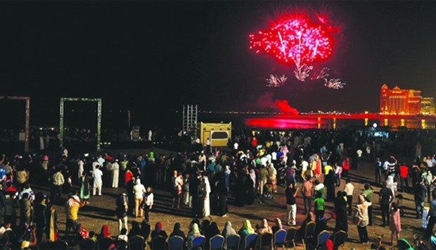 Visitors will see a fireworks display every night during the four-day Eid celebration at Katara - th