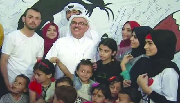 Qatar's ambassador Mohamed al-Emadi visited Gaza for the first time since the Gulf crisis began.