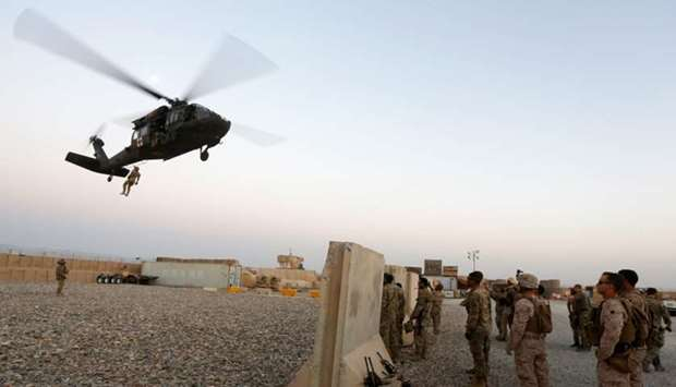 US troops take part in a medevac exercise in Helmand province, Afghanistan July 6, 2017