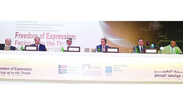 Speakers at the inaugural session of conference on freedom of expression